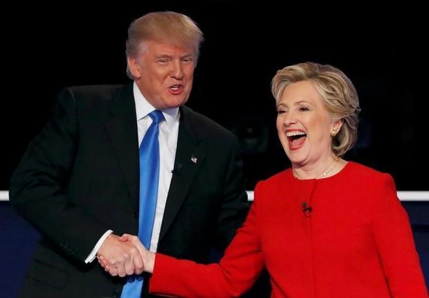 Donald Trump e Hillary Clinton (Foto: REUTERS/Mike Segar/File Photo/Files)