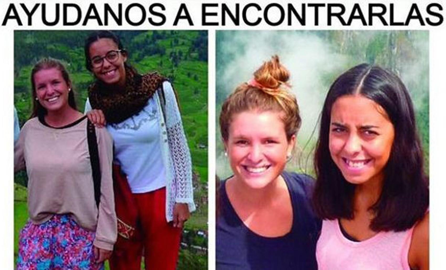 As argentinas Maria José e Marina foram assassinadas enquanto viajavam pelo Equador  (Foto: Família Menegazzo)