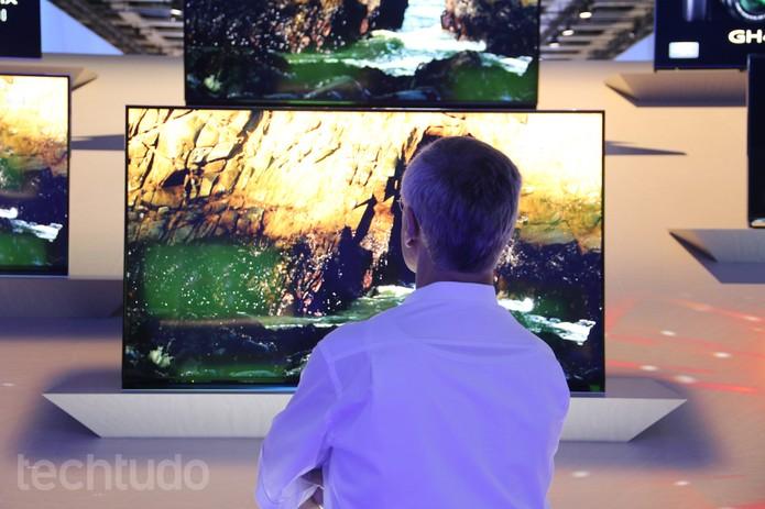 Panasonic TX-85X940 é um modelo de TV com resolução 4K (Foto: Fabrício Vitorino/TechTudo)