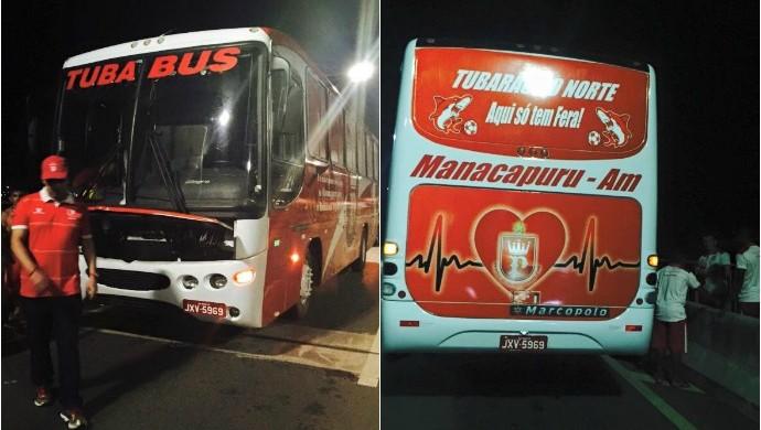 ônibus do Princesa fica no prego na beira da estrada (Foto: Divulgação)
