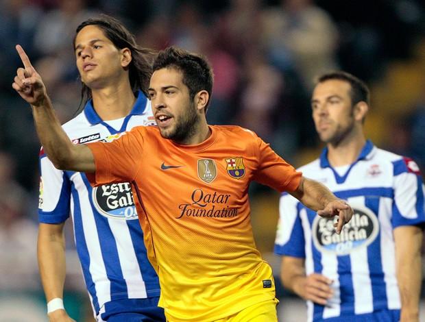 Alba gol Barcelona (Foto: AP)