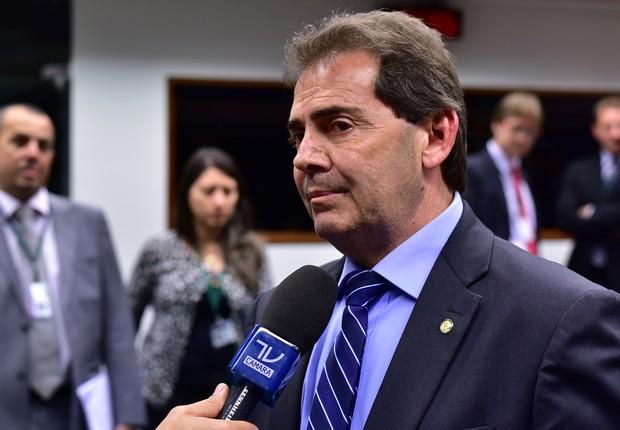 O deputado Paulo Pereira da Silva (SD-SP), o Paulinho da Força, durante entrevista, em Brasília (Foto: Zeca Ribeiro/ Câmara dos Deputados)