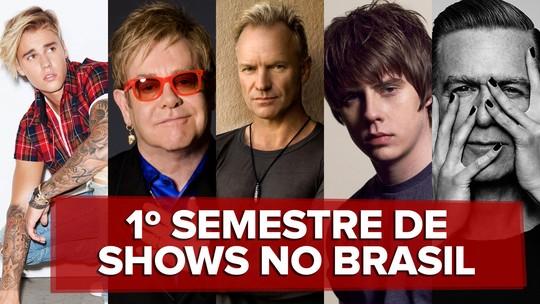 Shows no Brasil: Justin Bieber, Sting, Korn e Elton John tocam no 1º semestre
