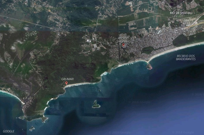 mapa recreio grumari (Foto: infoesporte)