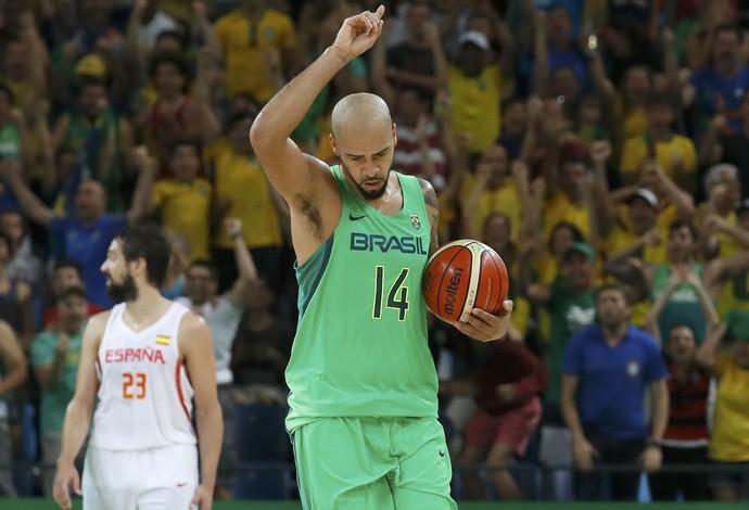 basquete, brasil, espanha, marquinhos (Foto:  REUTERS / Jim Young)