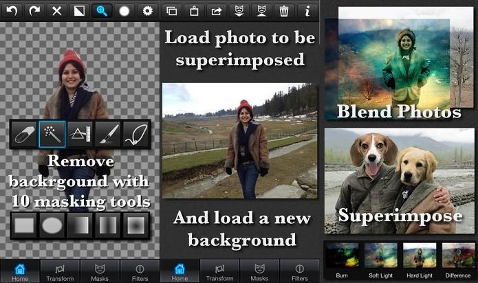 Troque a imagem de fundo e até da frente de suas fotos com o Superimpose (Foto: Divulgação/AppStore)