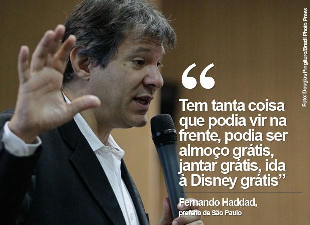 O prefeito Fernando Haddad nesta quinta-feira (21, em São Paulo (Foto: Douglas Pingituro/Brazil Photo Press/Estadão Conteúdo)