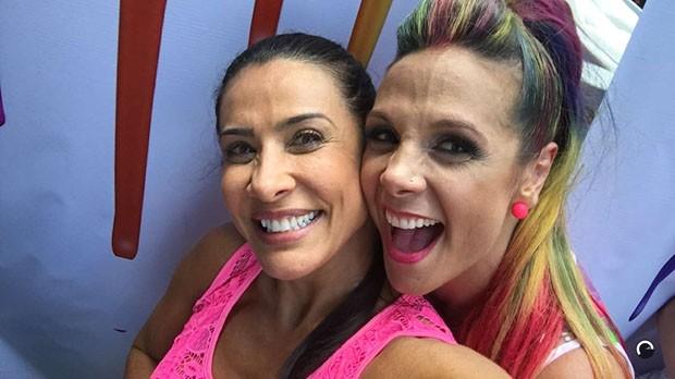 Scheila Carvalho e Carla Perez (Foto: Reprodução / Snapchat)