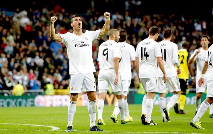 Cristiano Ronaldo comemoração jogo Real Madrid e Sevilla (Foto: Reuters)