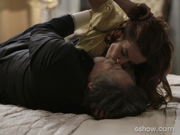 Casal dorme junto pela primeira vez (Foto: Fábio Rocha/TV Globo)