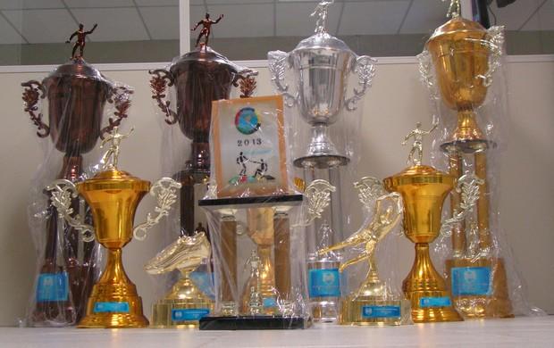 Troféus da 8ª Copa TV asa Branca de Futsal 2013    futsal (Foto: Vital Florêncio)