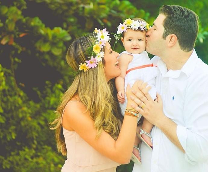 Geórgia em momento de alegria com a família (Foto: Arquivo Pessoal)