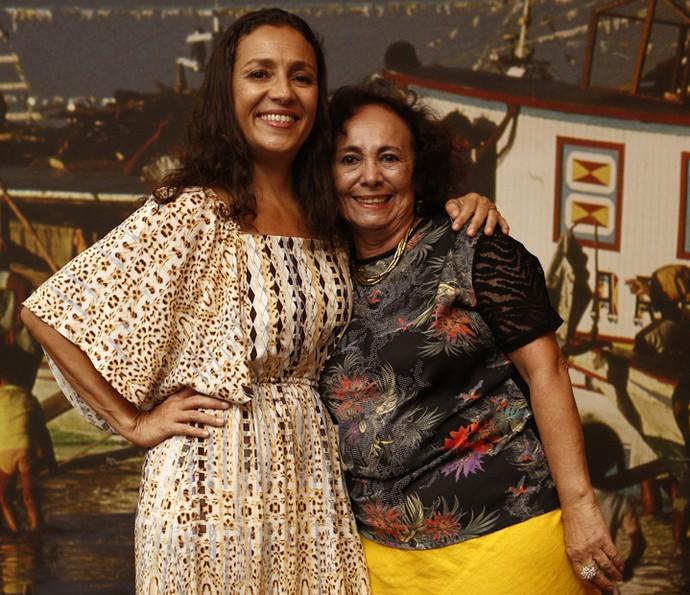 Cyria Coentro e Zezita Mattos dividem a personagem Piedade (Foto: Inacio Moraes/ Gshow)