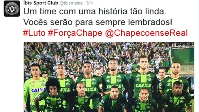 Íbis, Facebook, Chapecoense  (Foto: Reprodução/Twitter)
