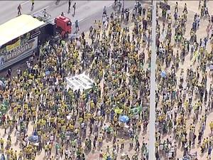 GNEWS_Manifestação_Brasília (Foto: GloboNews)