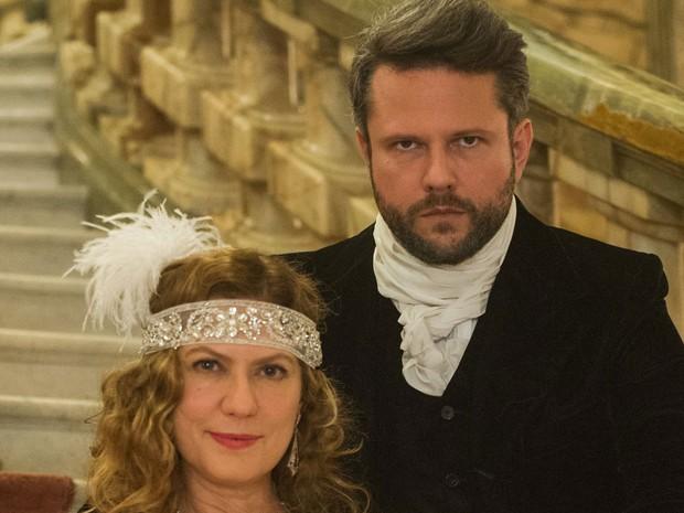 Selton Mello e Patricia Pillar são um casal de amants libertinos e manipuladores em 'Ligações perigosas' (Foto: Globo/Caiuá Franco)
