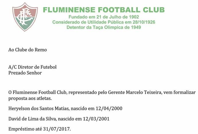 Fluminense formaliza pedido de empréstimo de dupla do Remo (Foto: Reprodução)