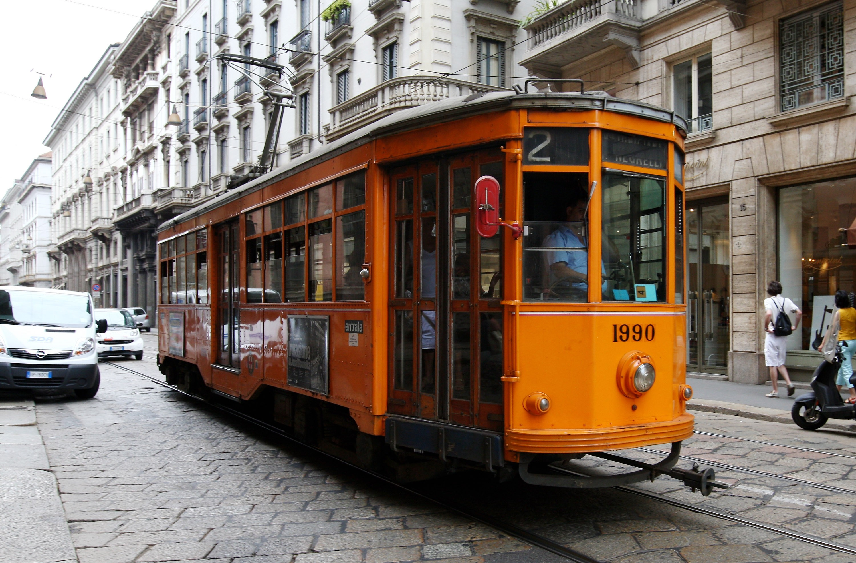 Tradicional bonde de Milão - a cidade mais cara para ficar em um cinco estrelas. (Foto: Getty Images / : Vittorio Zunino Celotto)