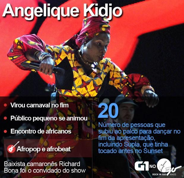 Selo Angelique Kidjo (Foto: Alexandre Durão / G1)