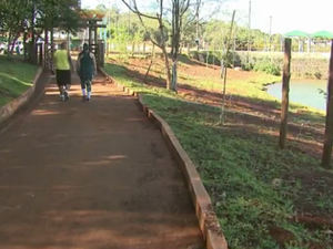 Com as obras, cerca de 600 metros da pista de caminhada serão interditados  (Foto: Reprodução RPC)