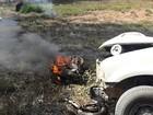 Motocicleta bate em caminhonete e advogado morre carbonizado em MT