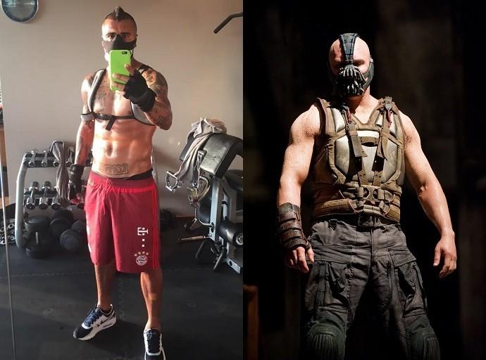 BLOG: Vidal posta foto de máscara na academia e é comparado a inimigo de Batman