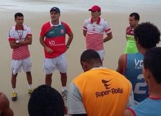 Imperatriz treinou na praia em São Luís para semifinal do Campeonato Maranhense (Foto: Divulgação / Willian Zaparolli)