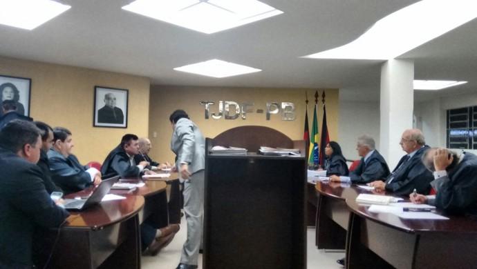 Julgamento do TJD-PB (Foto: Divulgação)