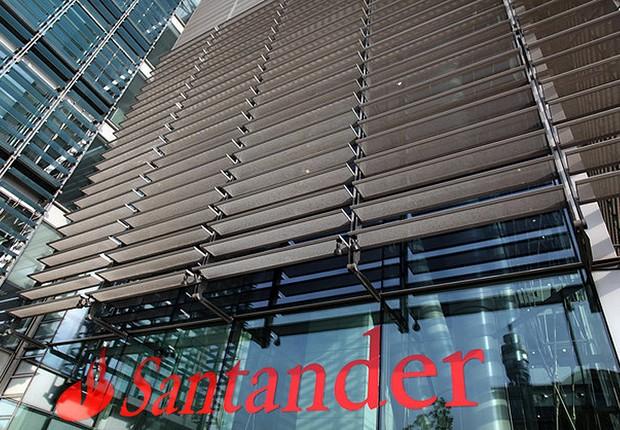 Unidade do banco Santander em São Paulo (Foto: Reprodução/Facebook)