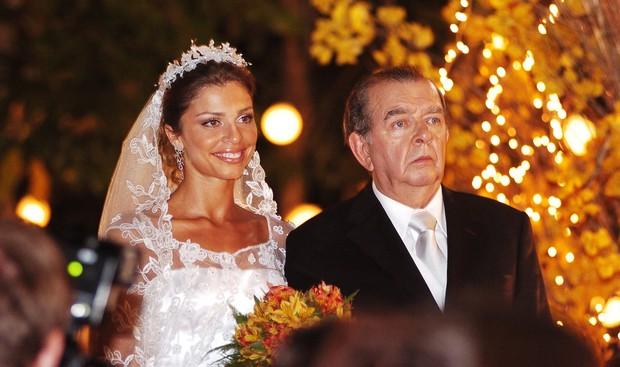 Grazi Massafera com Umberto Magnani na novela Páginas da Vida (Foto: João Miguel Júnior/Globo)