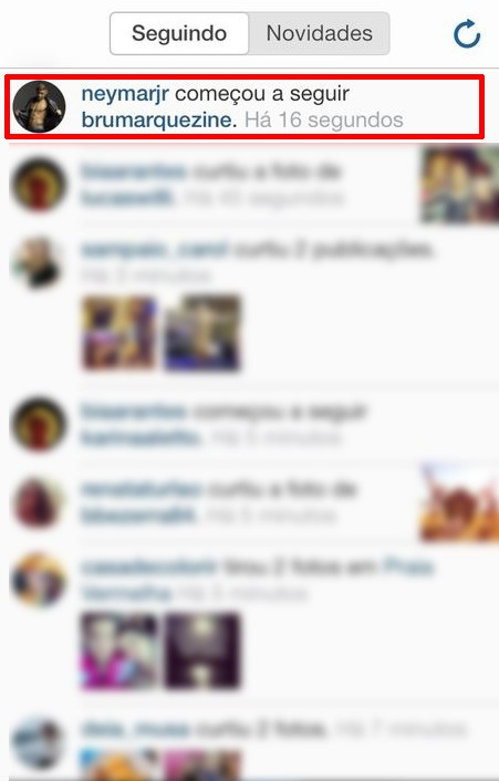 Neymar volta a seguir Bruna Marquezine no Instagram (Foto: Instagram / Reprodução)