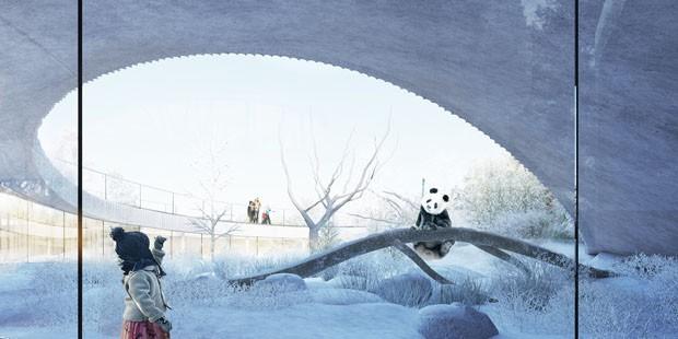 Pandas ganham casa de R$ 690 milhões no formato de ying yang (Foto: Divulgação)