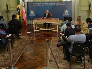 O governador fez um balanço do seu primeiro ano de gestão no Governo do ES (Foto: Romero Mendonça / Secom-ES)