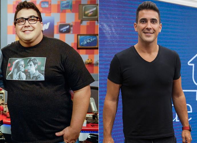 André Marques - Antes e depois (Foto: Rafael Sorín/ TV Globo - Artur Meninea/Gshow)