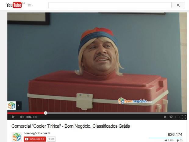 Tiririca em comercial que foi alvo da atenção da Justiça (Foto: Reprodução/Youtube)