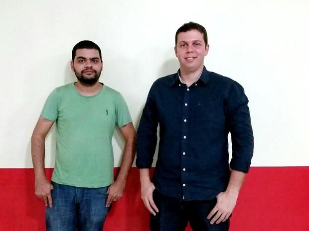 Analista de sistemas Giuliano Cardoso e engenheiro civil Victor Hugo Barbosa foram os criadores  (Foto: Arquivo pessoal)