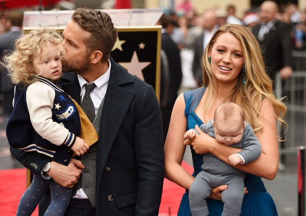 Ryan Reynolds, Blake Lively, James e Ines (Foto: Getty Images)