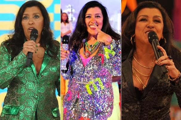 Verdes, coloridas e brilhosas e douradas: unhas da apresentadora no programa viraram marca do visual (Foto: Divulgação/ TV Globo)