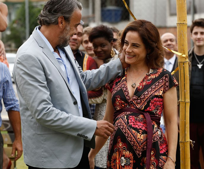 Mãe de Danda também espera um bebê (Foto: Inácio Moraes/Gshow)