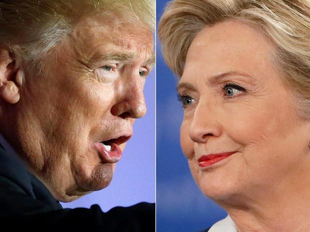Hillary Clinton e Donald Trump disputam presidência dos Estados Unidos (Foto: Carlo Allegri e Shannon Stapleton/Reuters)