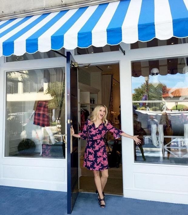 Reese Witherspoon na inauguração da nova loja da Draper James (Foto: Reprodução Instagram @draperjames)
