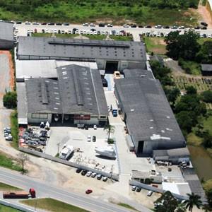 Fábrica da Schaefer Yachts, em Palhoça (SC) (Foto: Divulgação)