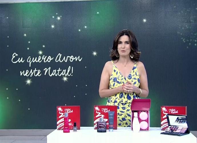 Fátima dá dicas de presentes de Natal (Foto: Divulgação/TV Globo)
