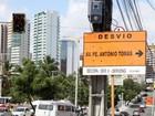 Padre Antônio Tomás terá desvios para obra a partir desta sexta (Prefeitura de Fortaleza/Divulgação)