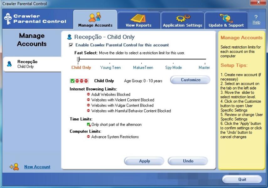 Crawler Parental Control | Download | TechTudo