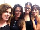 Tudo em família: Nádia Lippi e Gloria Pires posam com Thalita e Antonia