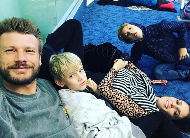 Rodrigo Hilbert e os filhos (Foto: Reprodução/Instagram)
