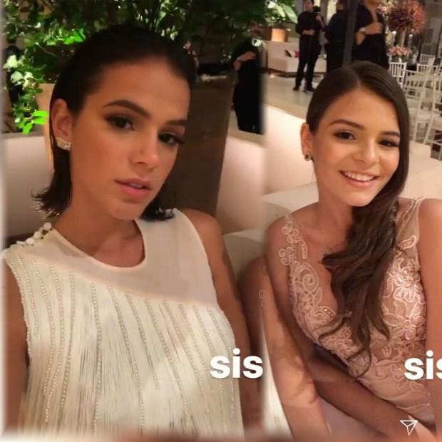 Bruna Marquezine e a irmã, Luana Marquezine (Foto: Reprodução/Instagram)