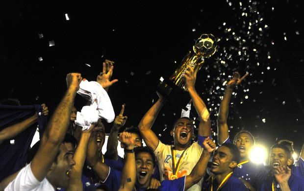 Cruzeiro Sub-20 comemoração (Foto: Felix Zucco / RBS)