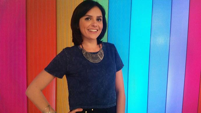 Monica Iozzi convida para o SuperStar Web (Foto: Bruna Magalhães/Gshow)